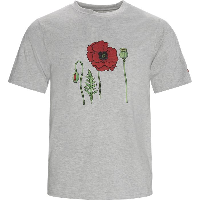 Poppy Tee - T-shirts - Regular - Grå